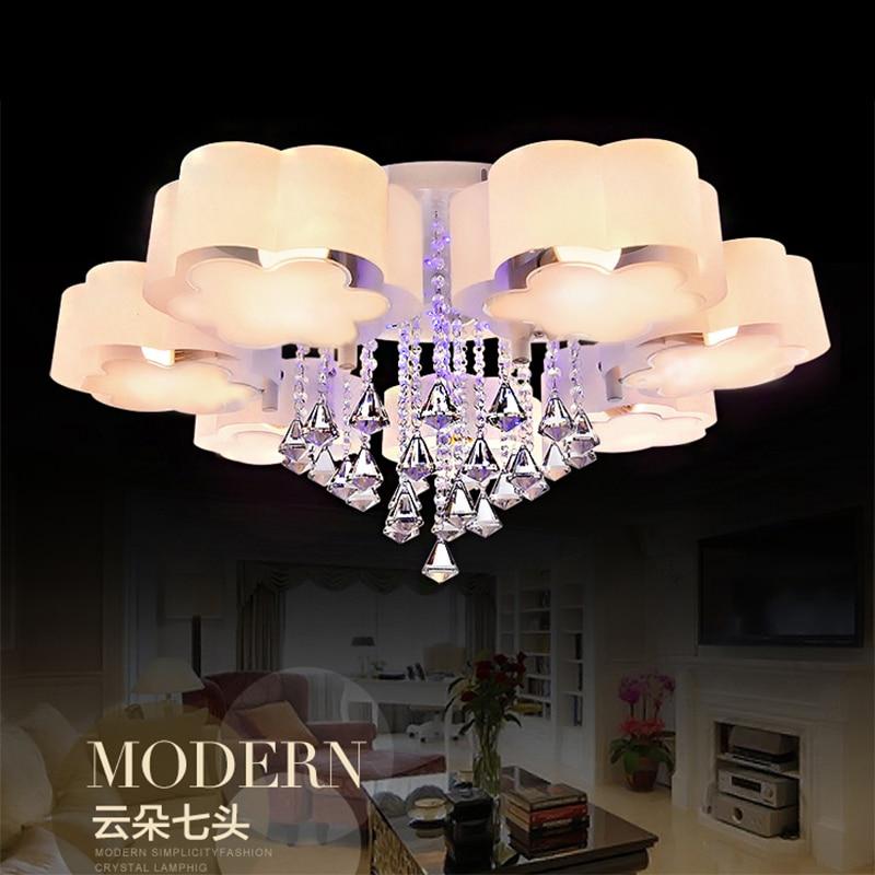 Modern Crystal Ceiling Lights Living Room Lighting Fittings Deckenleuchten Bedroom Acrylic Lamp Lamparas De Techo Luminaria