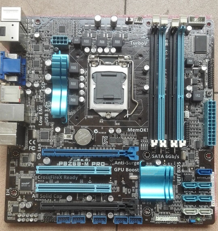 original motherboard for ASUS P8Z68-M PRO LGA 1155 DDR3 For I3 I5 I7 CPU USB3.0 32GB Z68 Desktop motherboard free shipping original motherboard for p8h61 i ddr3 lga 1155 boards for i3 i5 i7 cpu 16gb h61 desktop motherboard free shipping