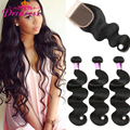 Peruvian Virgin Hair With Closure   3 Bundles Peruvian Body Wave With Lace Closure   Peerless Virgin Hair With Closure
