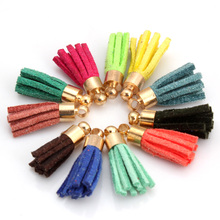 OlingArt  10PCS/LOT 20mm handmade craft leather tassel for earrings accessories or parts DIY jewerly making by yourself
