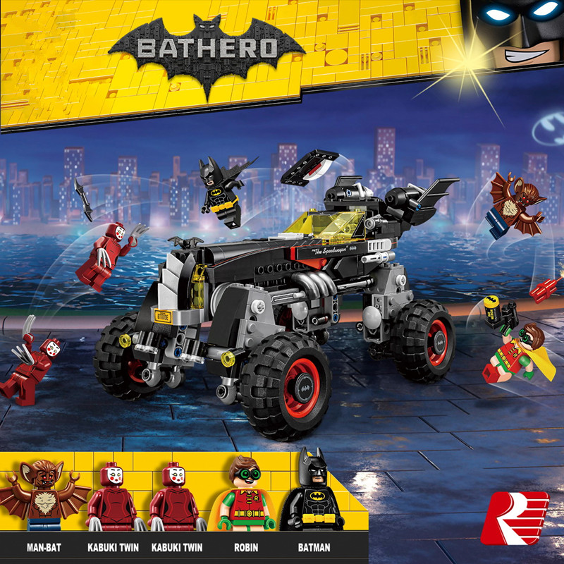Legoeo super heroes marvel Batman Lepin Super Heroes War Chariot DIY car Building Blocks figures set Toys For kids Gifts