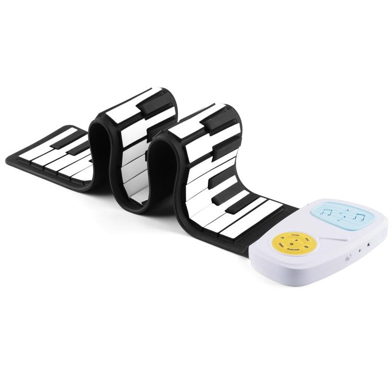 49-clé Enfants Musical Instrument Main Rouleau Piano Électronique Jouets Arc-En-Pratique Savent Que La Musique Loisirs Éducation Apprentissage Pianos - 2