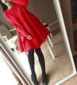 Mujer Suéter largo 2016 Otoño Invierno Nueva Moda Suéter Hecho Punto Vestido Imperio Cintura Linda muñeca Larga Pullover Mujeres