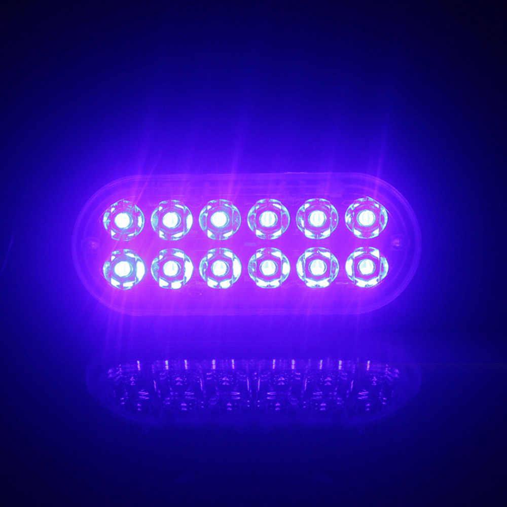 Caminhão do carro Luz de Advertência 12LED 12 Emergência Strobe Flashing Luz de Advertência Da Polícia Ultra-fino v 24 v 18 w azul de alta Potência