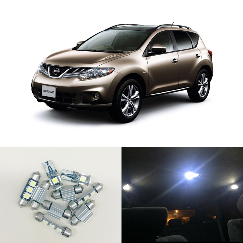 Super White Led Interior Package Kits For Nissan Murano 2003-2008 Map Dome Step Courtesy Trunk Cargo Area Lamp Car-Styling