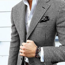 Exclusive blazer for men fabric with black and white design