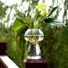 Стеклянная ваза в форме гриба стеклянная Террариум Бутылка Контейнер цветок домашний стол Декор Современный стиль украшения
