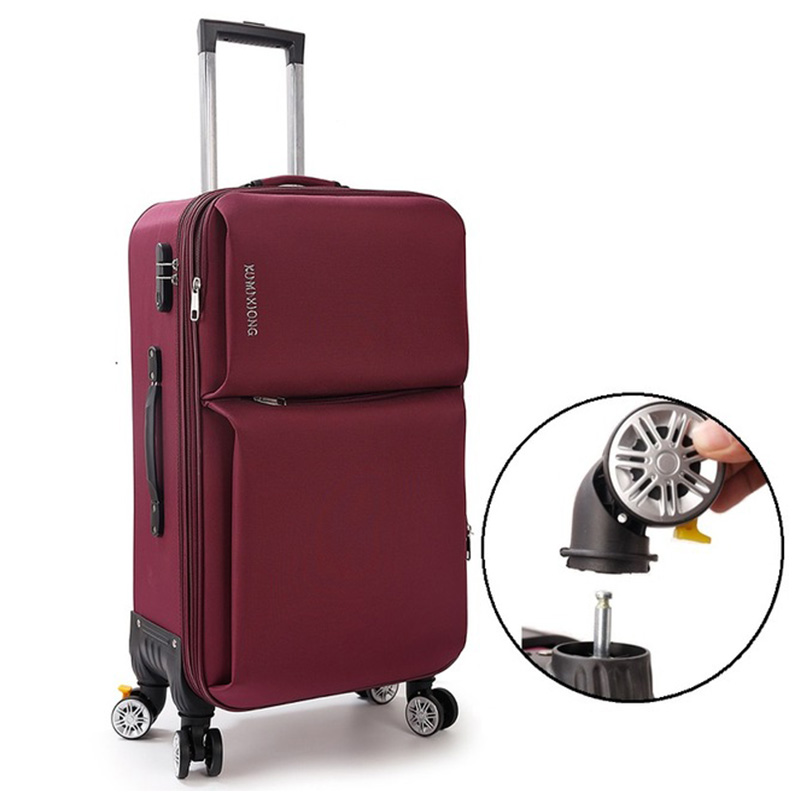 Oxford Trolley Wheeled Suitcase Business Large Travel Bag 20-26 Luggage Bag Mens / Womens Canvas Luggage Rolling LuggageOxford Trolley Wheeled Suitcase Business Large Travel Bag 20-26 Luggage Bag Mens / Womens Canvas Luggage Rolling Luggage