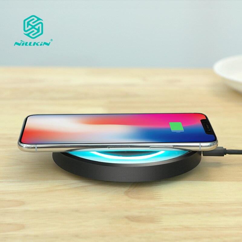 10 W Fast Qi cargador inalámbrico estación NILLKIN para iPhone X/8/8 más para Samsung Nota 8 /S8/S8 Plus qi cargador inalámbrico portátil