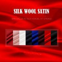 SEIDE WOLLE SATIN 140 cm breite 35mm/35% Silk + 65% Wolle Satin Stoff zum Nähen Weihnachten Vestidos lager