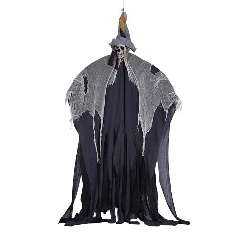 Jouets électriques 2 m terreur grande pendaison fantôme Halloween décoration pour la maison bureau Bar Ktv Club hantée maison évasion effrayant poupées