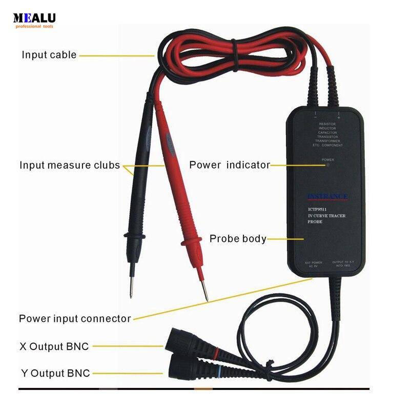 ICTP9511 curve tracer IV sonda é normalmente usado com um osciloscópio