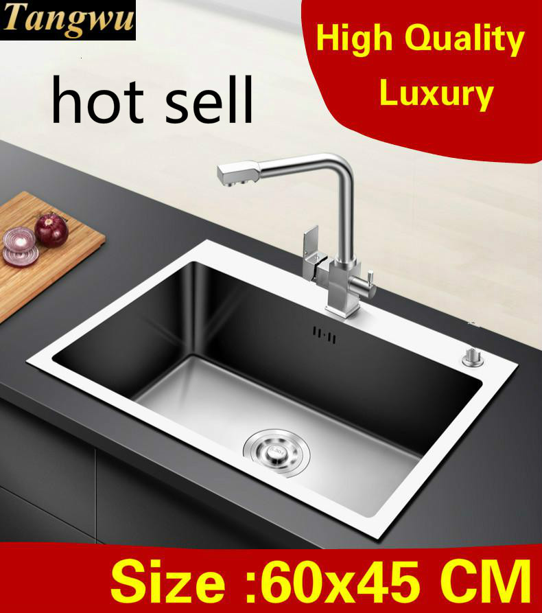 Free shipping Home vogue high quality kitchen manual sink single trough wash vegetables 304 stainless steel hot sell 60x45 CMFree shipping Home vogue high quality kitchen manual sink single trough wash vegetables 304 stainless steel hot sell 60x45 CM