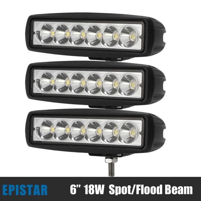 3pcs epistar 18w led light bar work light flood spot beam for jeep 3pcs epistar 18w led light bar work light flood spot beam for jeep offroad truck car aloadofball Image collections