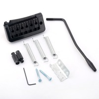 Musiclily Curved Electric Guitar Tremolo Bridge Assembly Set, Black