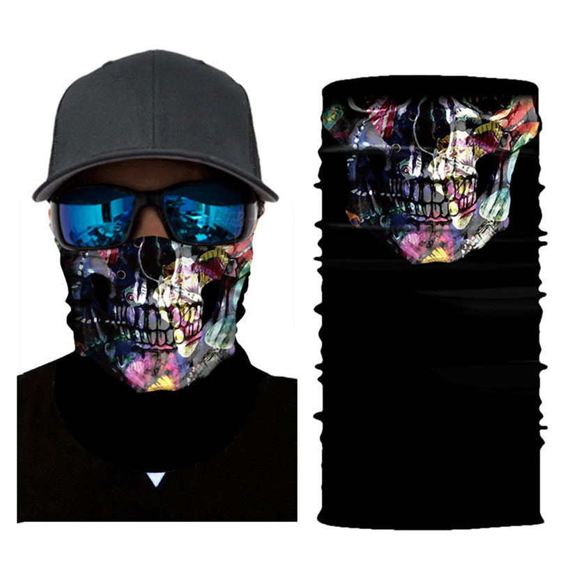 Skull Face Mask Scarf Ski Mask Ghost Balaclava Masks Cycling Head Scarf Neck Halloween Party Face Mask Wholesale 30ST02 (3)