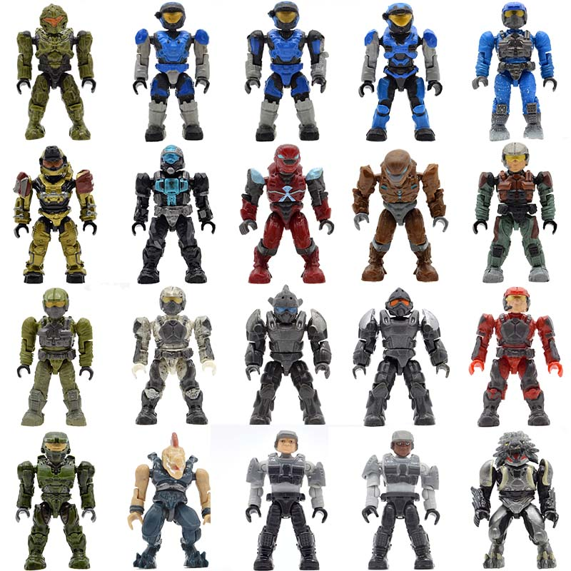 Wholesale 20pcs/lot Halo Warriors Wars Games Monsters Humans Covenants Spartans Guns Building Blocks Bricks Toys for Children monsters of folk monsters of folk monsters of folk