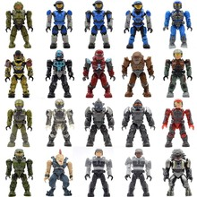 Wholesale 20pcs/lot Halo Warriors Wars Games Monsters Humans Covenants Spartans Guns Building Blocks Bricks Toys for Children