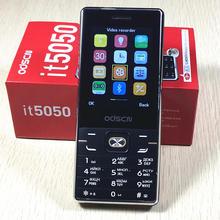 It5050 duplo sim telefone móvel à espera dupla 2.8 polegada tela telefone celular teclado russo telefone odscn it5050