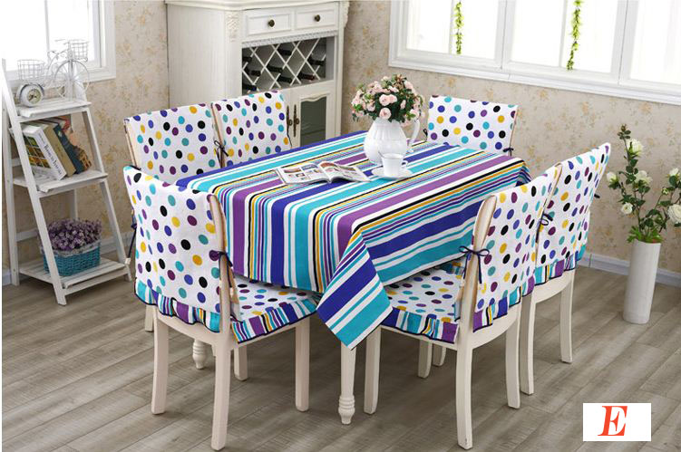 Attractive Aliexpress.com : Buy 5 Styles Table Cloth Chair Covers With Pad Table Cover  Seat Covers Canvas Stripe Plaid Flower Dot Coffee Dinning Table Decor From  ...