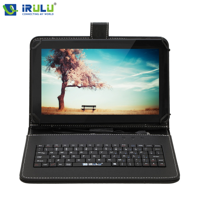 "iRULU eXpro X1Pro 9"" Tablet PC Quad Core Android 4.4 Tablet WIFI Dual CAM Download Google Play APP With RU/EN Keyboard Case"