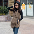 2017 Fashion Women Vest Jacket Warm Cotton Sleeveless Hoodies Hooded Coat Outwear Cardigan Female Free Shipping,Dec 13