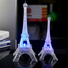 New 3D Romantic France Eiffel Tower/Paris Tower LED Night Light Bedroom Table Lamp Kids Friends Family Gifts Home decoration(China)