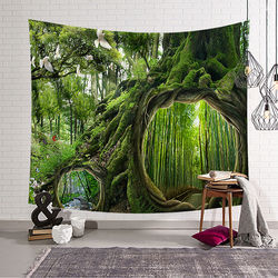Creative Forest Tapestry As if in the Forest Home Decor Tropical Trees 3D Decorative Wall Tapestry free delivery w3-dz-20