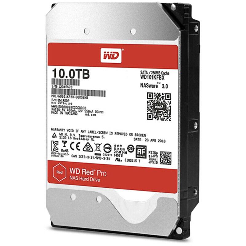 Image 3 - WD RED Pro 10 ТБ дисковая сетевая память 3,5 ''NAS жесткий диск красный диск 10 ТБ 7200 RPM 256 M кэш SATA3 HDD 6 ГБ/сек.