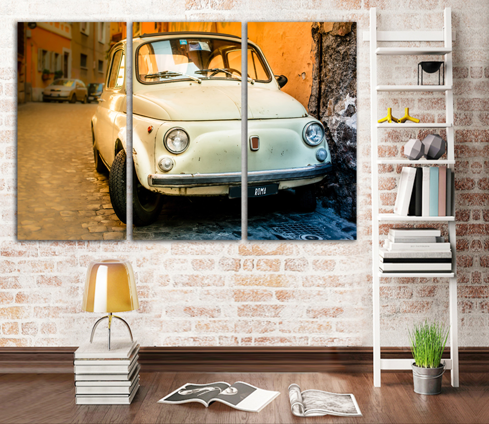 2017 New Sell like hot cakes Printed Volkswagen Beetle Car Poster Canvas Painting Modern Wall For Living Room Unframed FA293