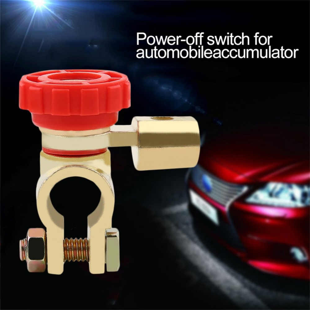 new Car Battery Terminal Link Switch Quick Cut-off Disconnect Black Red Head Car Truck Auto Parts Accessory Drop Shipping