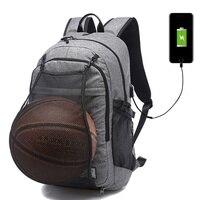Sport Backpacks Men Laptop Backpack School Bag For Teenager Boys Soccer Ball Pack Gym Bags Male Football Basketball Net XA604WD