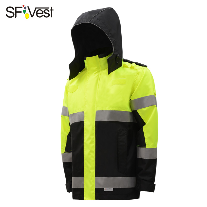 SFvest 3M high visibility jacket reflective rain coat Waterproof 3M safety rain jacket free shipping new high visibility fashion rainwear rain suit reflective jacket waterproof trousers safety clothing workwear free shipping