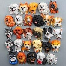 1Pc Cartoon Nette Mini Husky Bulldog Kühlschrank Magnet Kid Frühen Bildung Hund Magnetische Aufkleber Für Kühlschrank Harz Figur Aufkleber