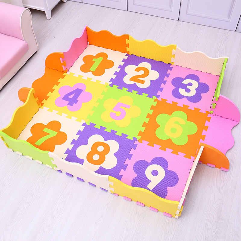 Числа/Животные Mei QI Прохладный для детей, eva игровой мат из пены/напольный коврик пазл в 30 см х 30 см толщина 1 см водонепроницаемый playmat ковер дети