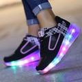 27~40 Led Children Shoes Krasovki Luminous Sneakers Boys Roller Skate Shoe Led Slippers for Girl