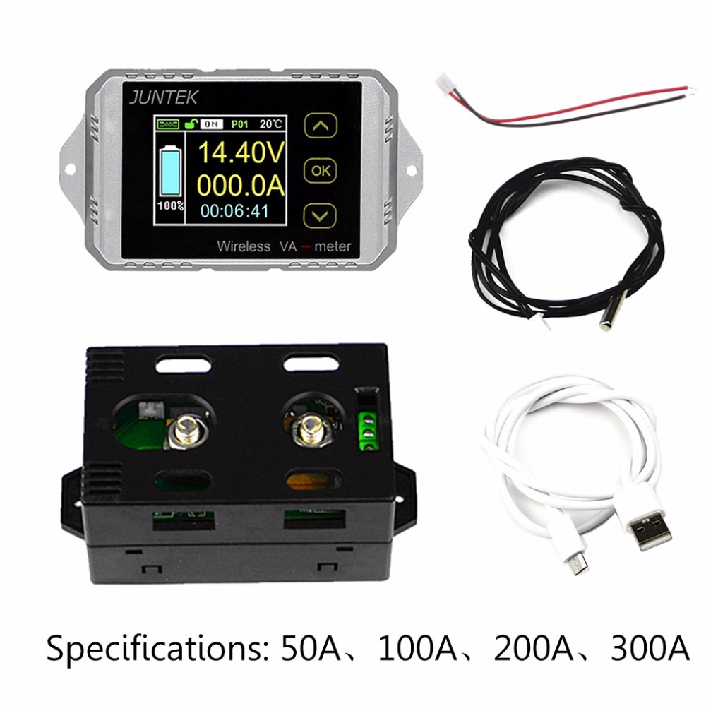 Voltage Meters Kind-Hearted Dc 120v 50a Lcd Combo Meter Wireless Voltage Current Kwh Watt Meter 12v 24v 48v Battery Capacity Power Monitoring Solar Car Sale Price