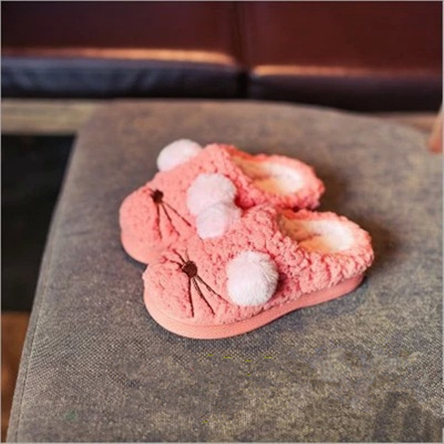 Осень зима новинка для девочек chaussure китая традиционные ноги теплые за детьми для детей мальчики бездельник домашние тапочки супер-идеальный