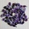 Natural roxo cristal ametistas acessórios 50 pçs pedra gota de água contas pingente para fazer jóias