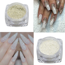 Trendy Nail 1g 3D DIY Nail Art Glitter Beauty Silver Colors Sequins Sparkly Rhinestone/Powder Dust  JIS01-04