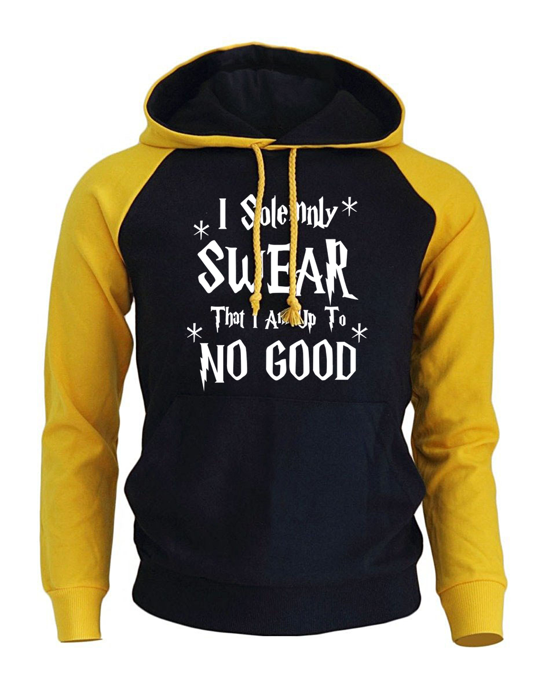 I Solemnly Swear That I Am Up To No Good Print Hoody For Men 2017 New Fleece Sweatshirts Raglan Tracksuit Harajuku Punk Hoodies
