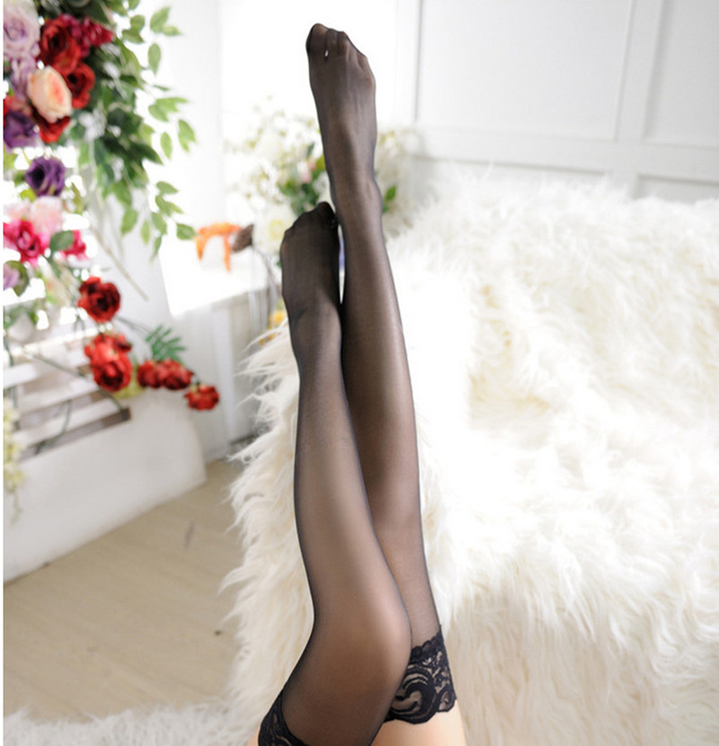HTB1Fj7Ub8Cw3KVjSZFuq6AAOpXaq - High Stocking Women Summer Silica Over knee Socks Sexy girl Female Hosiery Nylon Lace Style Stay Up Stockings Plus Size Tight