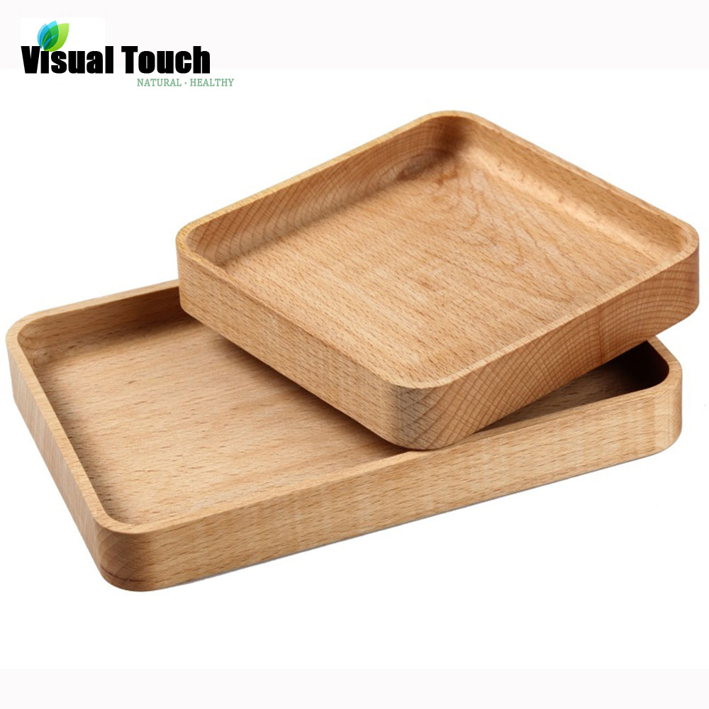 Visual touch japanese wooden plates handmade zelkova wood for Cuisine wooden