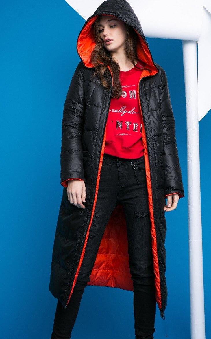 Doudoune réversible à capuche x-long doudoune hiver femme manteau Long doudoune