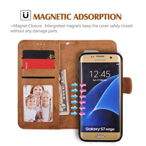 Image 3 - LANCASE For Samsung Galaxy S7 Edge Case Wallet Magnetic Flip PU Leather Case For Samsung S8 S9 S9 Plus S10 S10 PLUS Note 10 Case