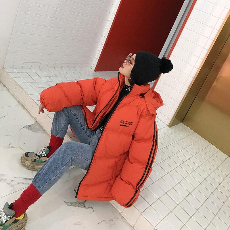 Capuche Hip Survêtement Chaud Pain Rétro orange Femmes Outwear D'hiver Manteau Yp078 Solide Lâche Hop Mixed 2018 À black Rayé Veste Nouvelles Casual tZw8qT