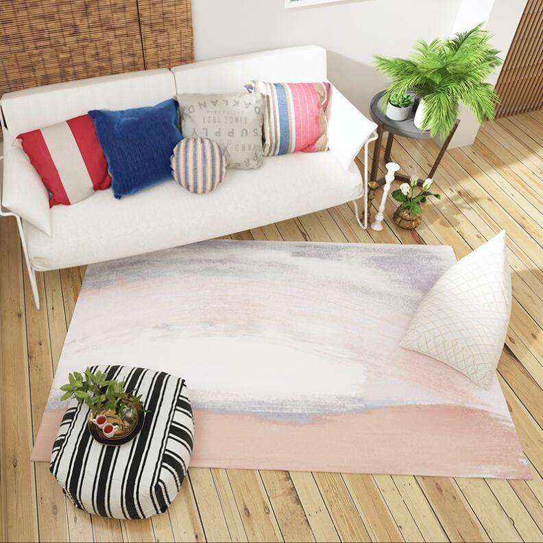 Tapis nordiques de velours de flanelle de Rectangle d'ins pour des petits tapis de salon grand tapis antidérapant de sécurité