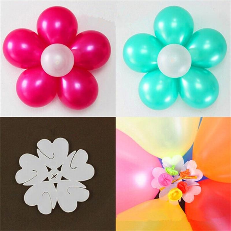 10pcs/lot Balloon Seal Clip Combine 5 Balloons to Flower Shape Multi Balloon Sticks Balloon wedding birthday Accessory