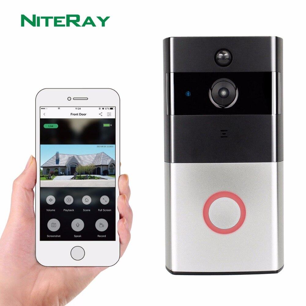 Wireless Door Camera Motion Sensor Video Doorbell Wifi For Apartment Battery