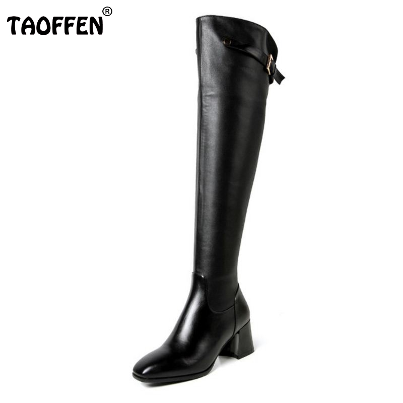 Women Real Genuine Leather Square Low Heel Over Knee Boots Woman Square Toe Warm Winter Shoes Heeled Footwear Size 34-39 women real genuine leather square low heel over knee boots woman square toe warm winter shoes heeled footwear size 34 39